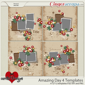 Amazing Day 4 Templates by CarolW Designs