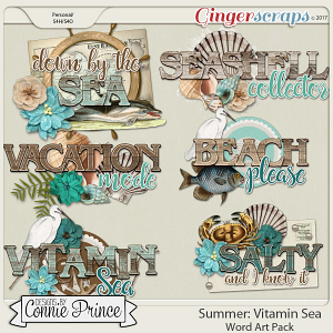 Vitamin Sea - WordArt Pack