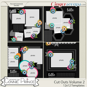 Cut Outs Volume 2 - 12x12 Temps (CU Ok) by Connie Prince