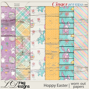 Hoppy Easter: Worn Out Papers by LDragDesigns