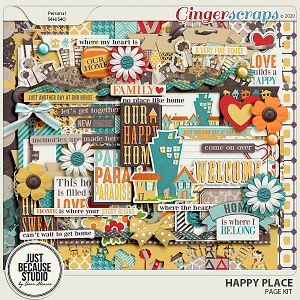Happy Place Page Kit by JB Studio