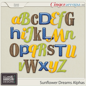 Sunflower Dreams Alpha Sets by Aimee Harrison