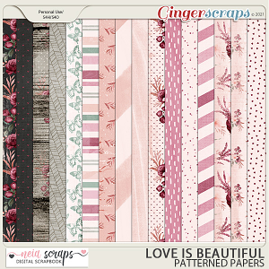 Love is Beautiful - Patterned Papers - by Neia Scraps