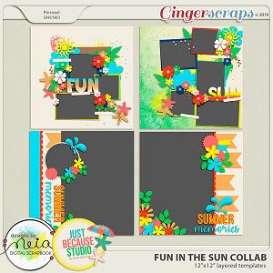 Fun In The Sun Templates by JB Studio and Neia Scraps