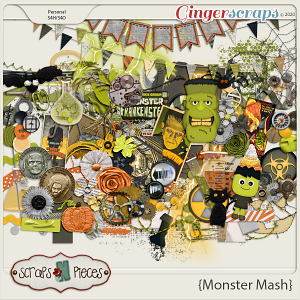 Monster Mash Embellishments - Scraps N Pieces
