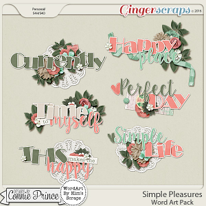 Simple Pleasures - Word Art