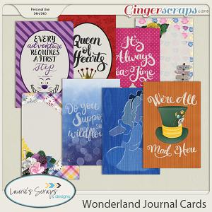 Wonderland Journal Cards