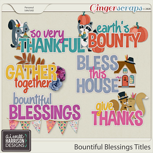 Bountiful Blessings Titles by Aimee Harrison
