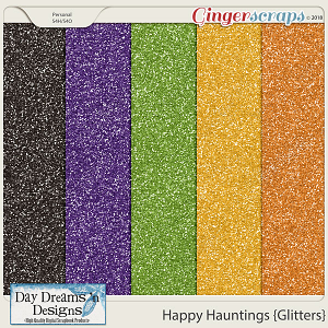 Happy Hauntings {Glitter Papers} by Day Dreams 'n Designs