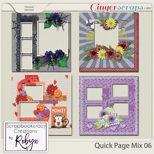 Quick Page Mix 06 by Scrapbookcrazy Creations