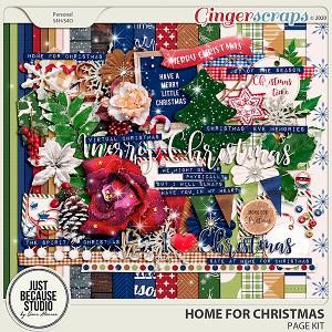 Home For Christmas Page Kit by JB Studio