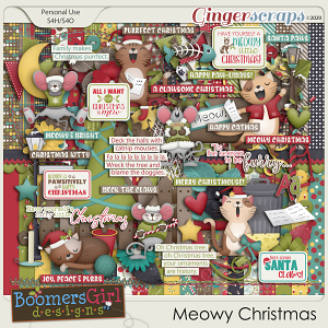 Meowy Christmas by BoomersGirl Designs