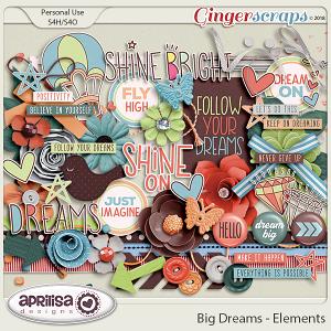 Big Dreams - Elements by Aprilisa Designs