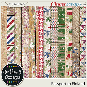 Passport to Finland EXTRA PAPERS by Heather Z Scraps