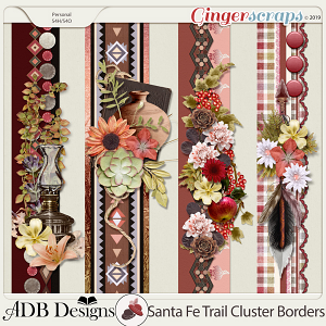 Santa Fe Trail Cluster Borders by ADB Designs