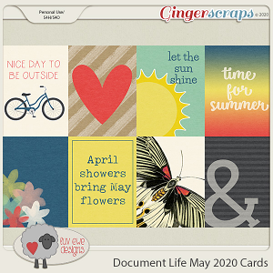 Document Life May 2020 Journal Cards by Luv Ewe Designs