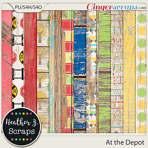 At the Depot WEATHERED WOOD by Heather Z Scraps