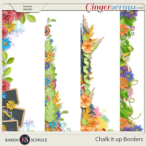 Chalk it Up Borders by Karen Schulz