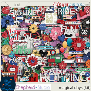 Magical Days Digital Scrapbooking Kit by Shepherd Studio and Miss Fish