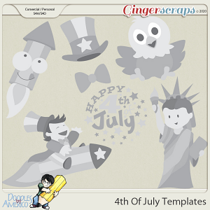 Doodles By Americo: 4th Of July Templates