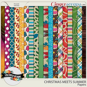 Christmas Meets Summer - Papers by Lisa Rosa Designs