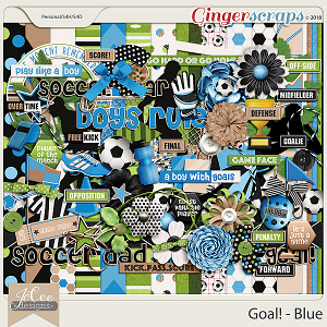 Goal! Blue by JoCee Designs