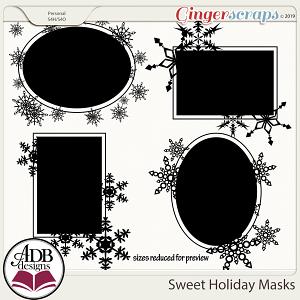 Sweet Holiday Masks by ADB Designs