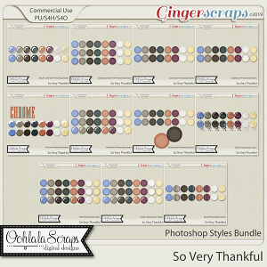 So Very Thankful CU Photoshop Styles Bundle