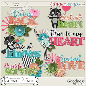 Goodness - Word Art Pack by Connie Prince