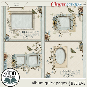 Believe Album Quick Pages by ADB Designs
