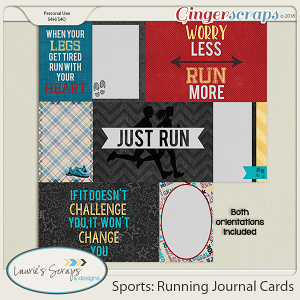 Sports: Running Journal Cards