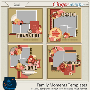 Family Moments Templates by Miss Fish