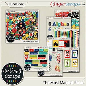 The Most Magical Place BUNDLE by Heather Z Scraps
