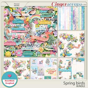 Spring birds - bundle