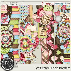 Ice Cream Page Borders