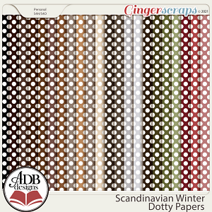 Scandinavian Winter Dotty Papers by ADB Designs