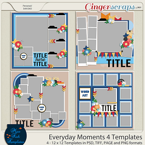 Everyday Moments 4 Templates by Miss Fish
