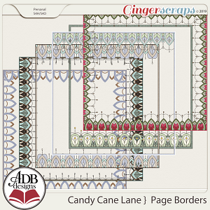 Candy Cane Lane Page Borders by ADB Designs