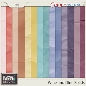 Wine and Dine Solid Papers by Aimee Harrison