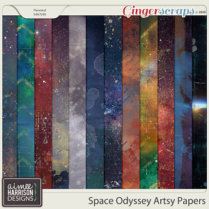 Space Odyssey Artsy Papers by Aimee Harrison