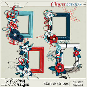 Stars & Stripes: Cluster Frames by LDragDesigns