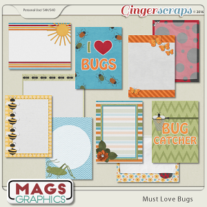 Must Love Bugs JOURNAL CARDS