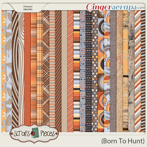 Born To Hunt Paper Pack by Scraps N Pieces