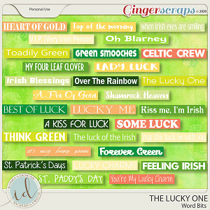 The Lucky One Word Bits by Ilonka's Designs