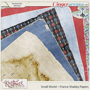 Small World ~ France Shabby Papers