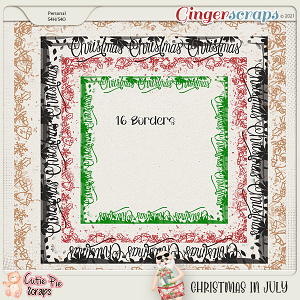 Christmas In July Page Borders