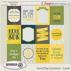 Good Day Sunshine - Cards by Aprilisa Designs
