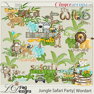 Jungle Safari Party: Wordart by LDragDesigns