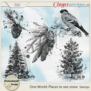 One World: Places to see snow Stamps