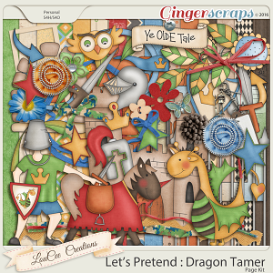Let's Pretend : Dragon Tamer Page Kit